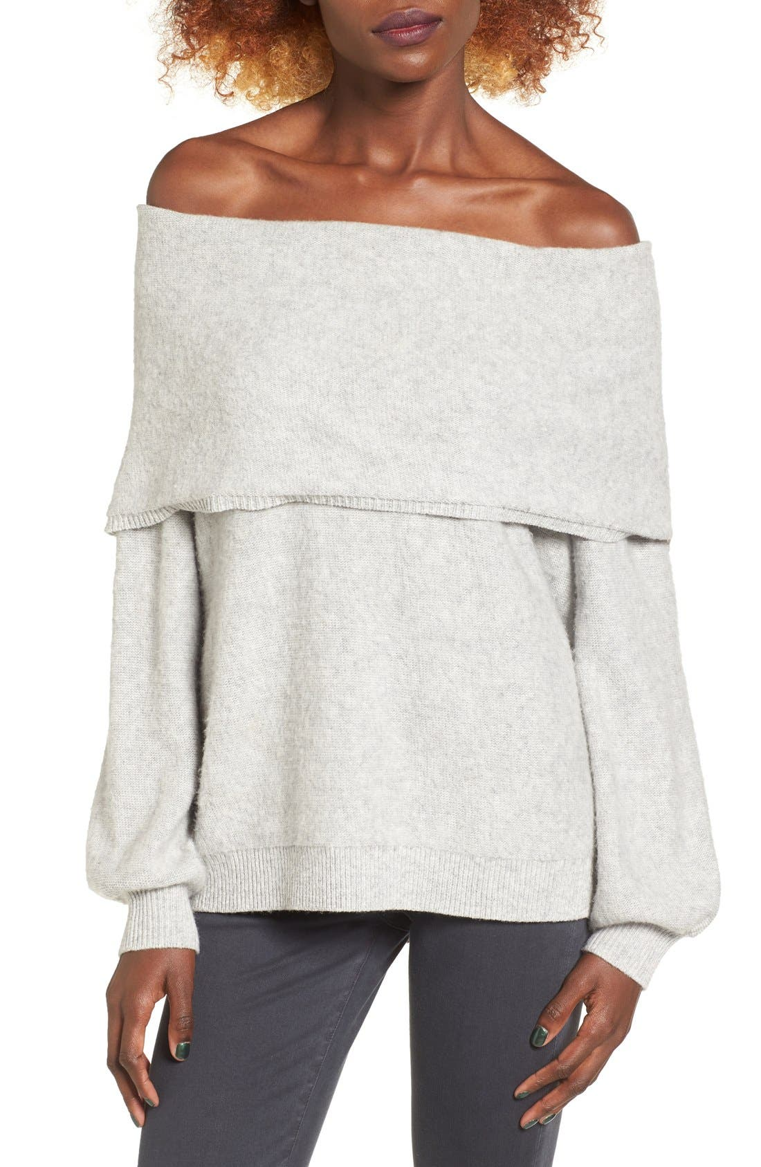 Main Image - Leith Off the Shoulder Sweater