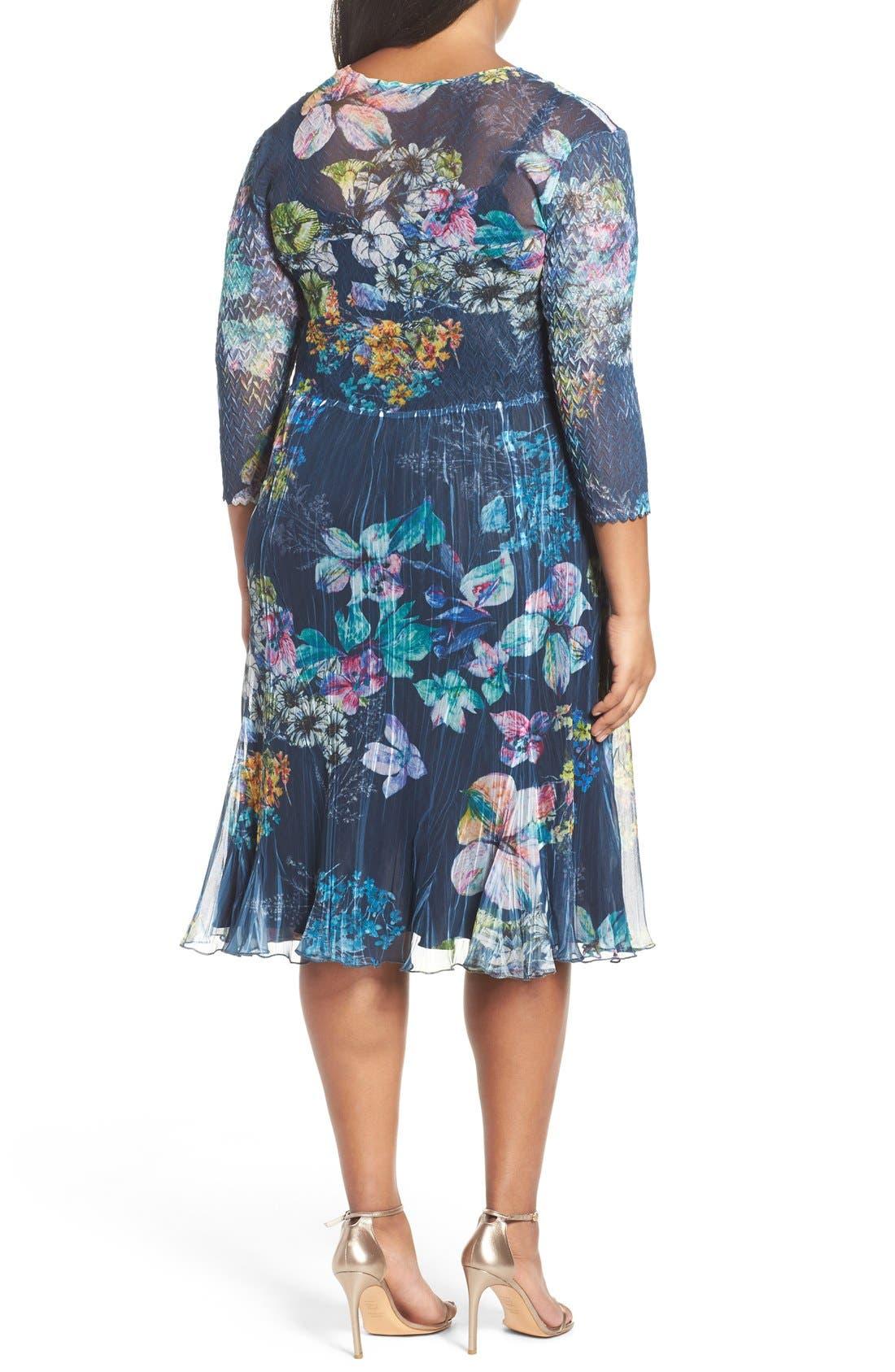 Chiffon A-Line Dress,                             Alternate thumbnail 2, color,                             Floral Gem