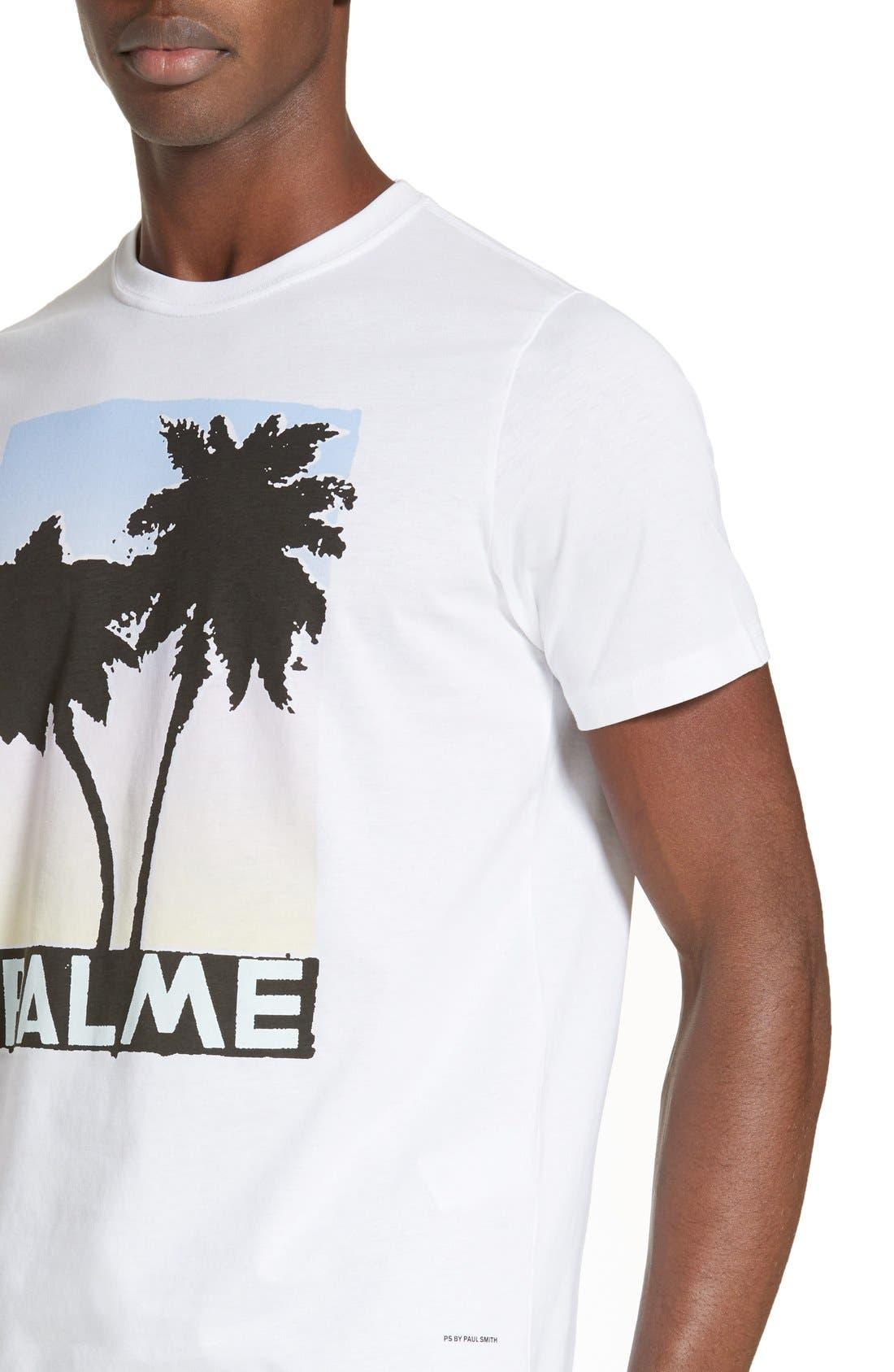 Palm Screen T-Shirt,                             Alternate thumbnail 4, color,                             White