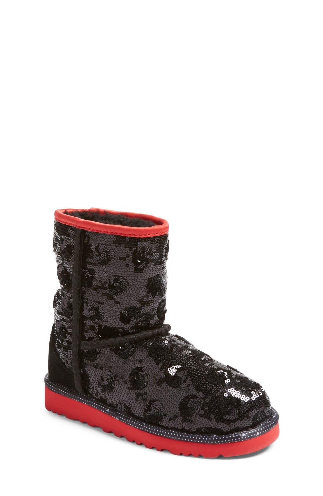 Main Image - UGG® x Disney Minerva Short Boot (Little Kid & Big Kid)