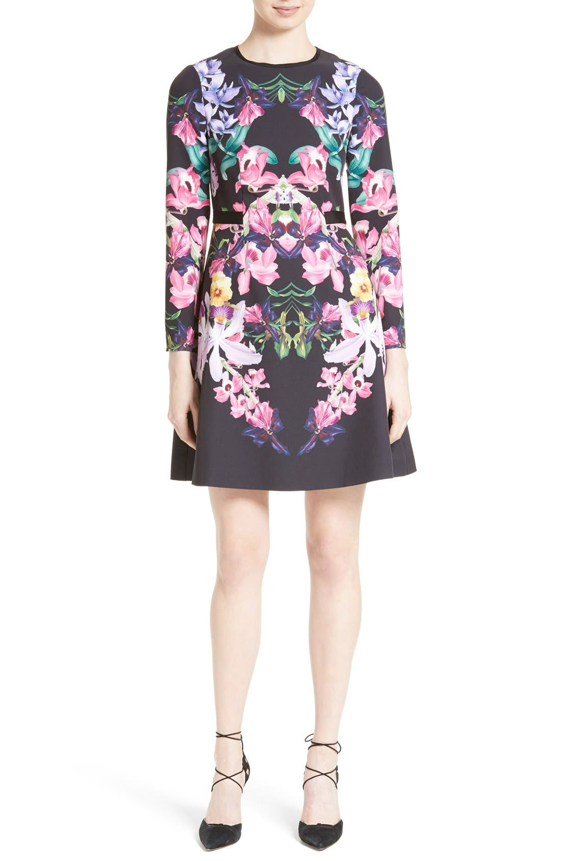 Main Image - Ted Baker London Lost Garden Fit & Flare Dress