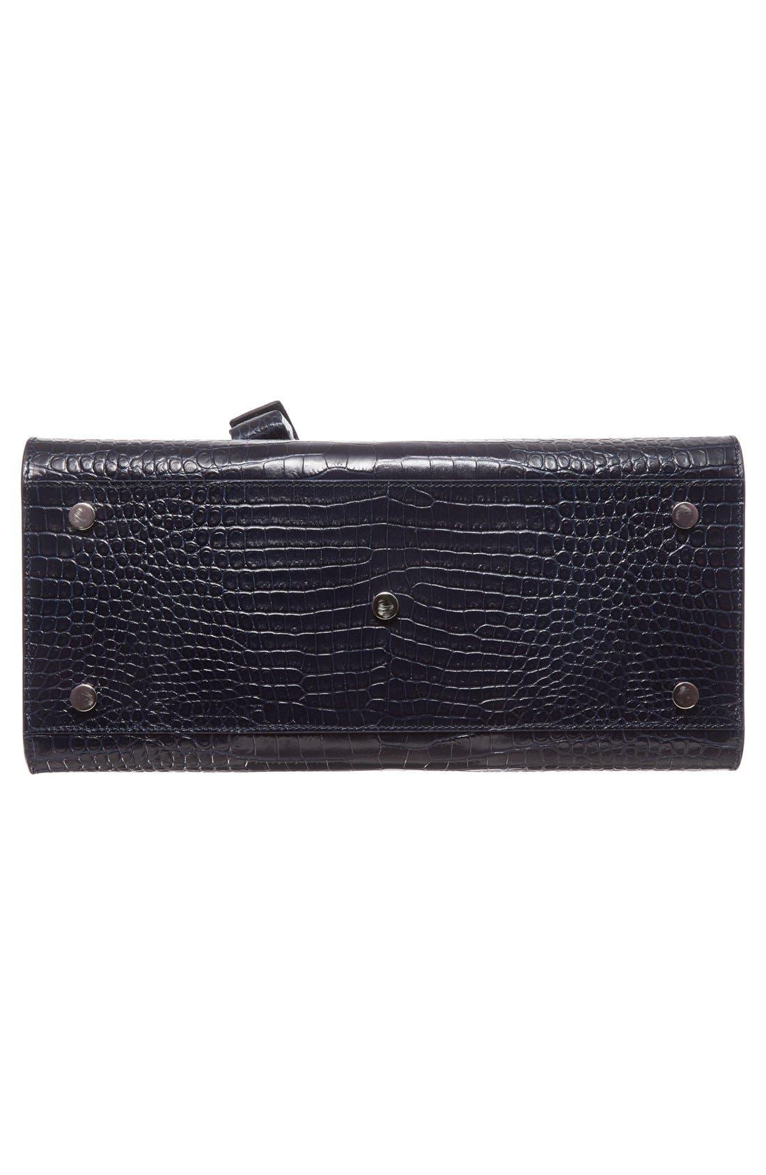 Alternate Image 5  - Saint Laurent Small Sac de Jour Croc Embossed Calfskin Leather Tote