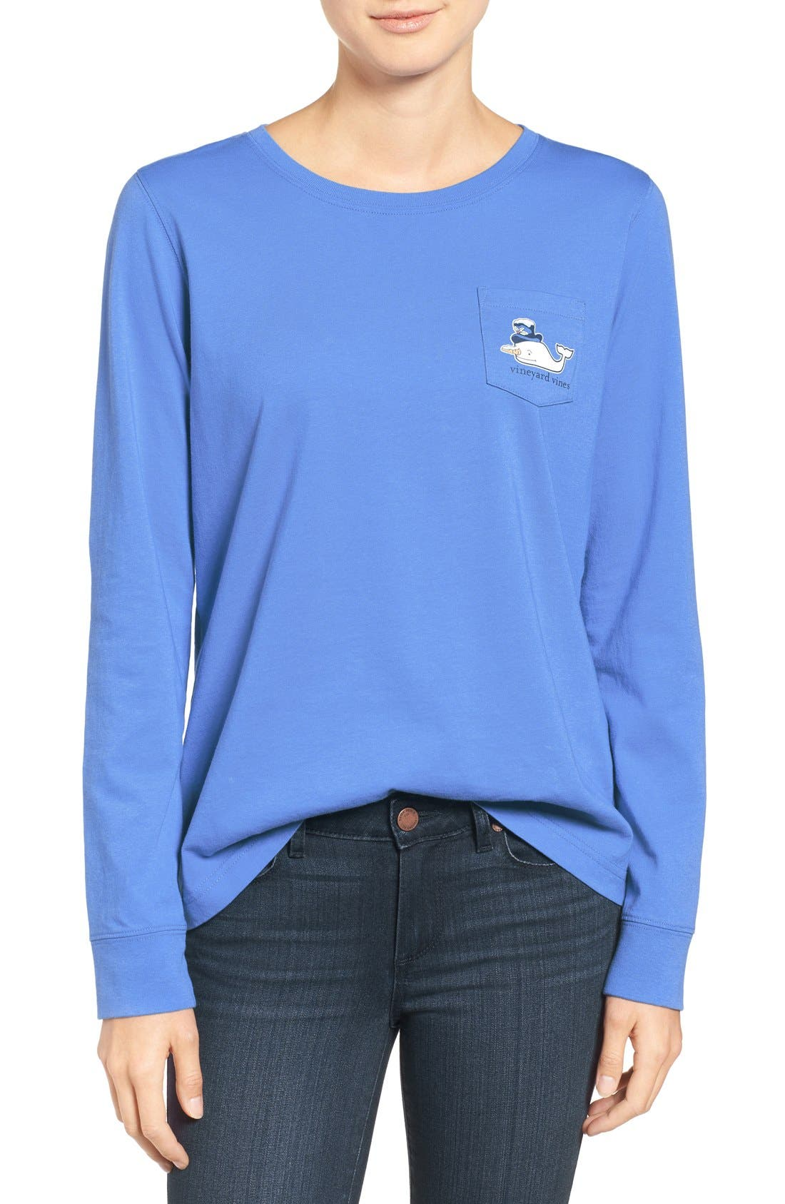 Alternate Image 1 Selected - Vineyard Vines Snowman Whale Cotton Tee