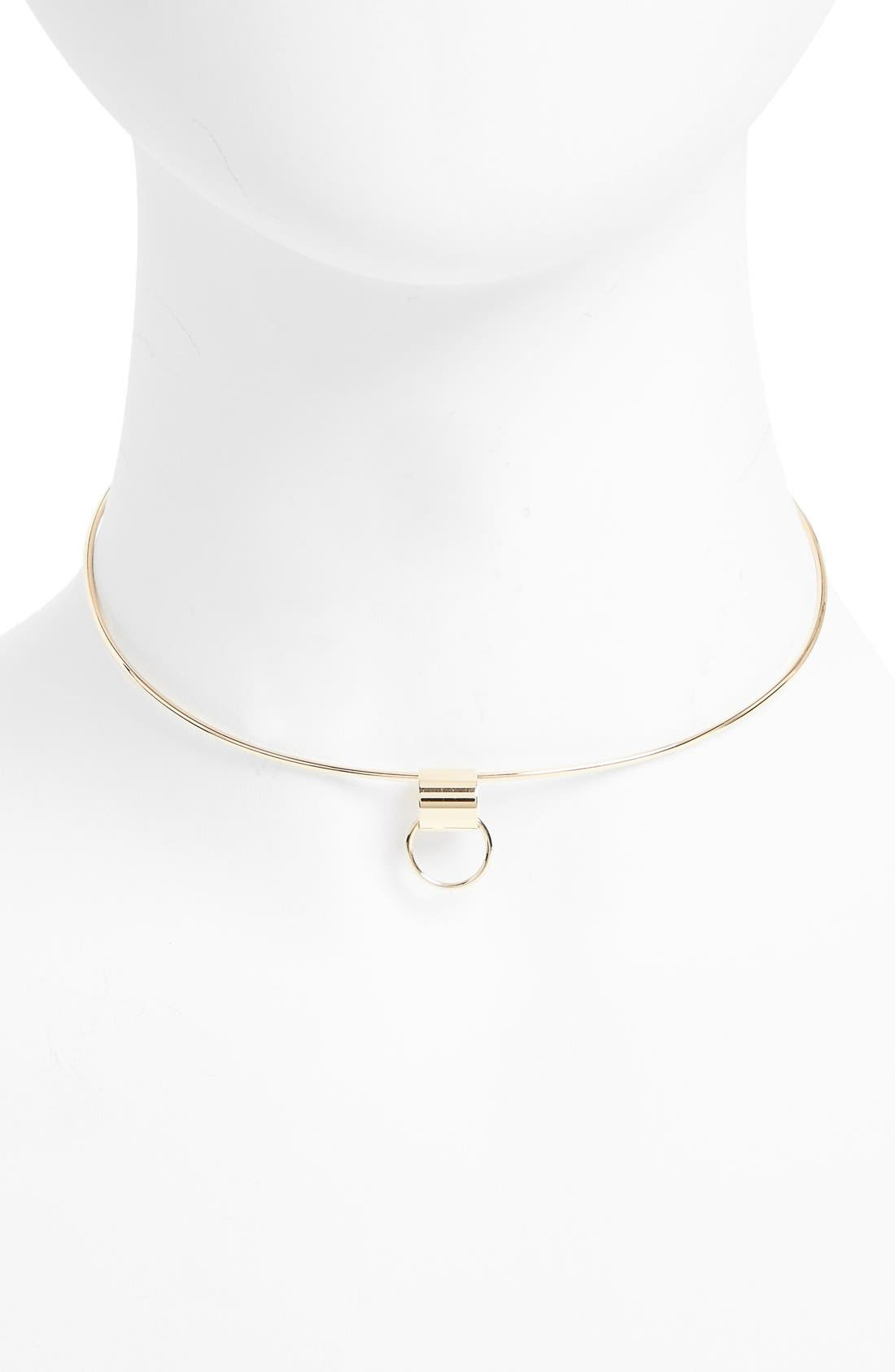 Young Neckwire Collar Necklace,                             Alternate thumbnail 5, color,                             Yellow Gold