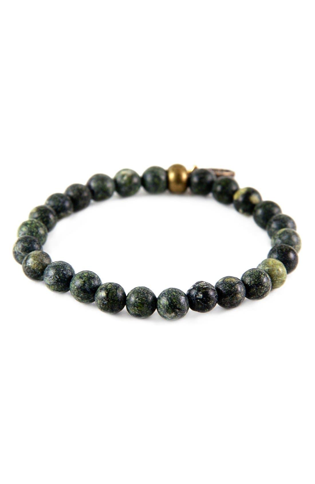 Russian Serpentine Bead Bracelet,                         Main,                         color, Dark Green