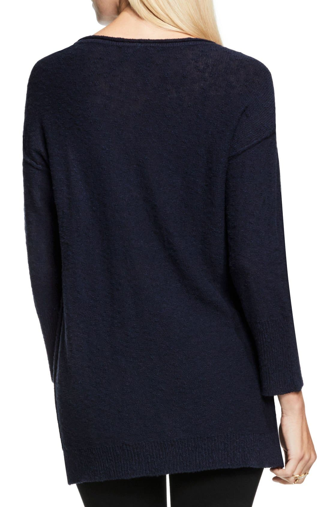 Alternate Image 2  - Two by Vince Camuto Exposed Seam Sweater
