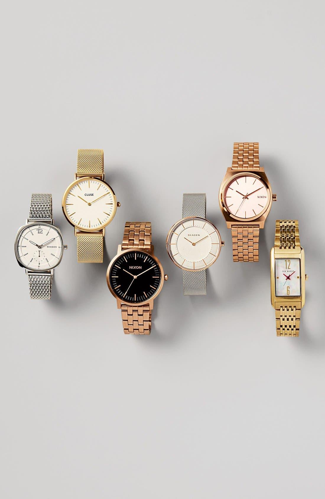 Rectangle Case Bracelet Watch, 23mm,                             Alternate thumbnail 4, color,