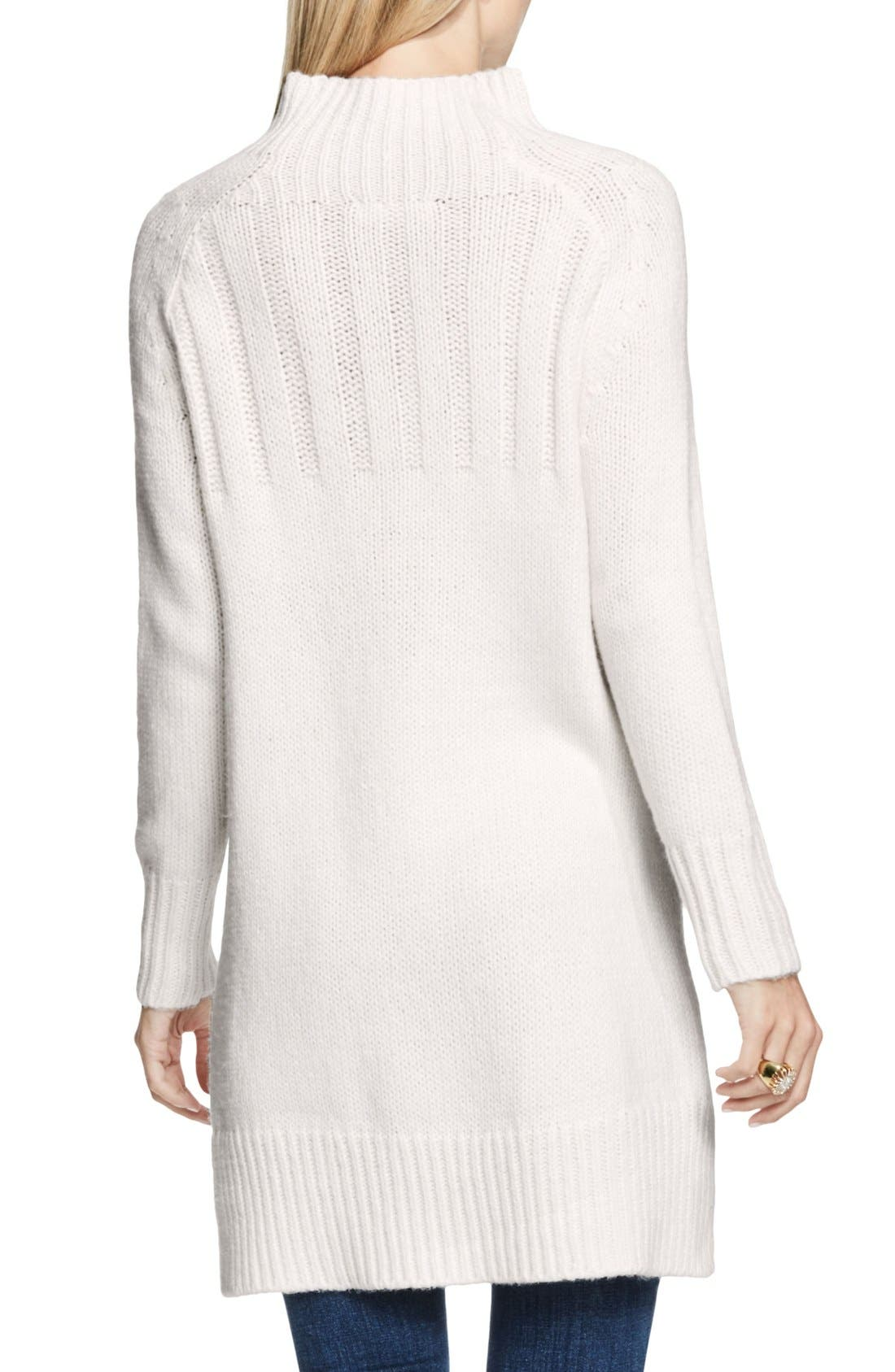 Alternate Image 2  - Two by Vince Camuto Mock Neck Tunic Sweater