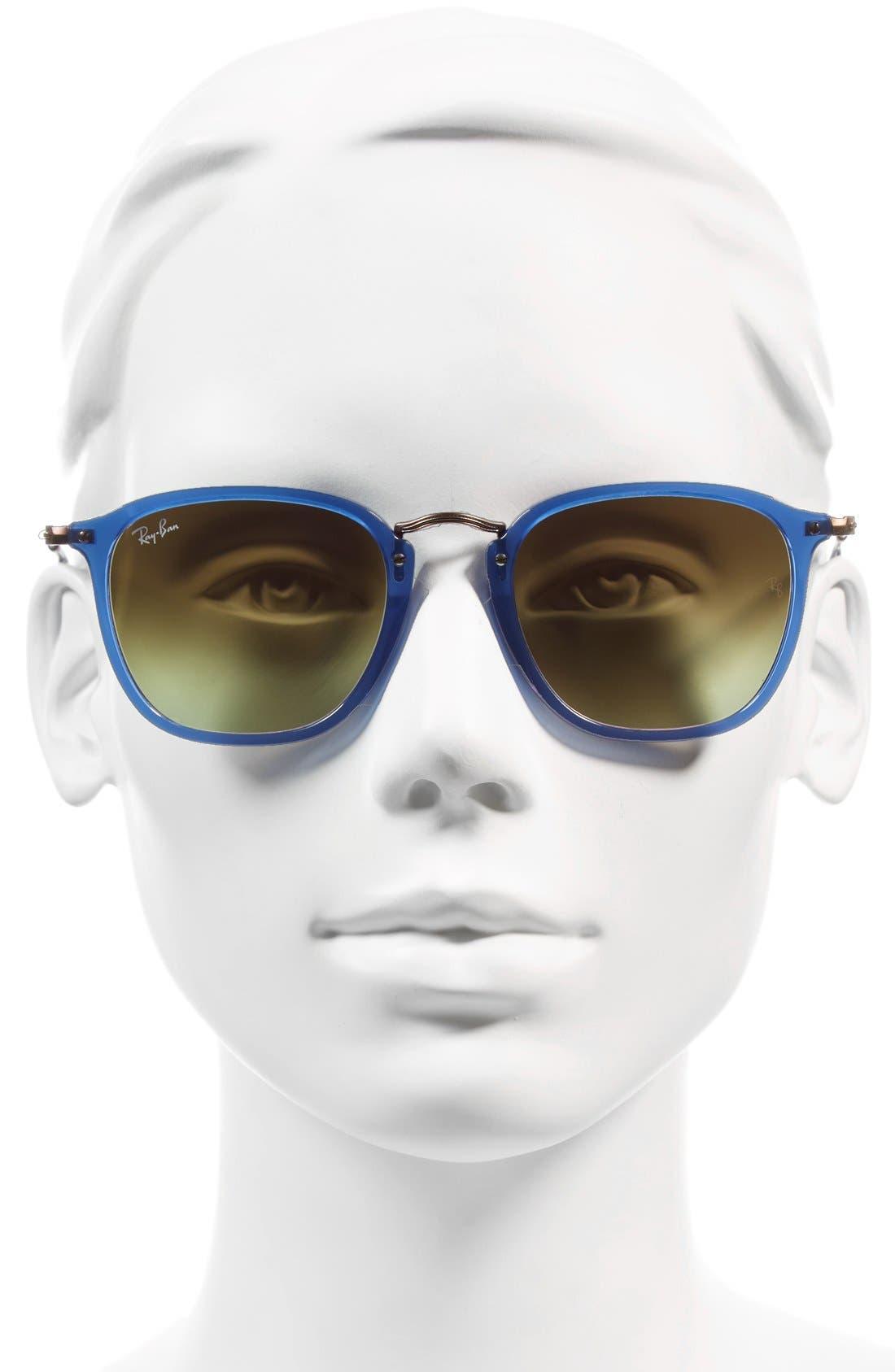 Icons Wayfarer 51mm Sunglasses,                             Alternate thumbnail 2, color,                             Transparent Blue