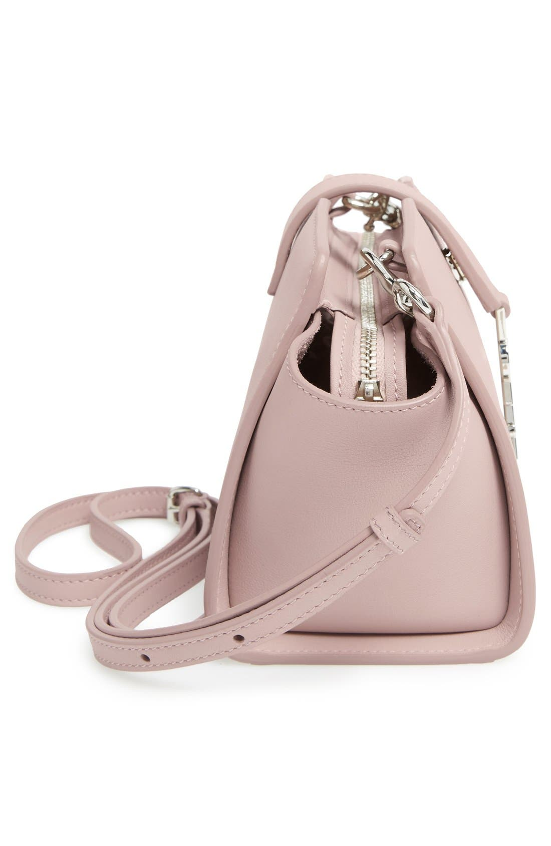 Toy Cabas Leather Crossbody Bag,                             Alternate thumbnail 5, color,                             Rose Antic