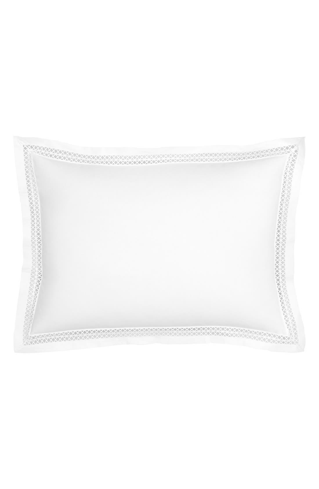 Emilia Accent Pillow,                             Main thumbnail 1, color,                             White