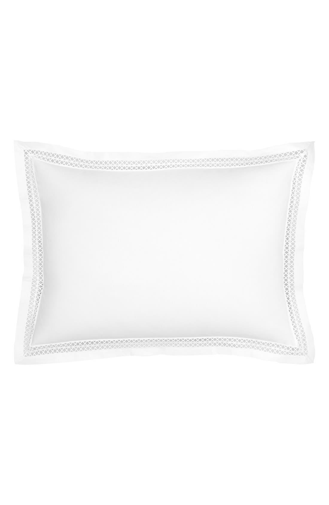 Emilia Accent Pillow,                         Main,                         color, White