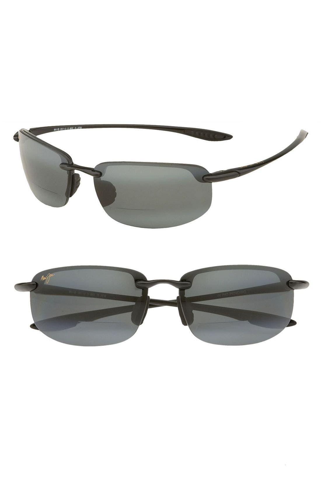 'Ho'okipa - PolarizedPlus<sup>®</sup>2' Reader Sunglasses,                         Main,                         color, Black / Grey
