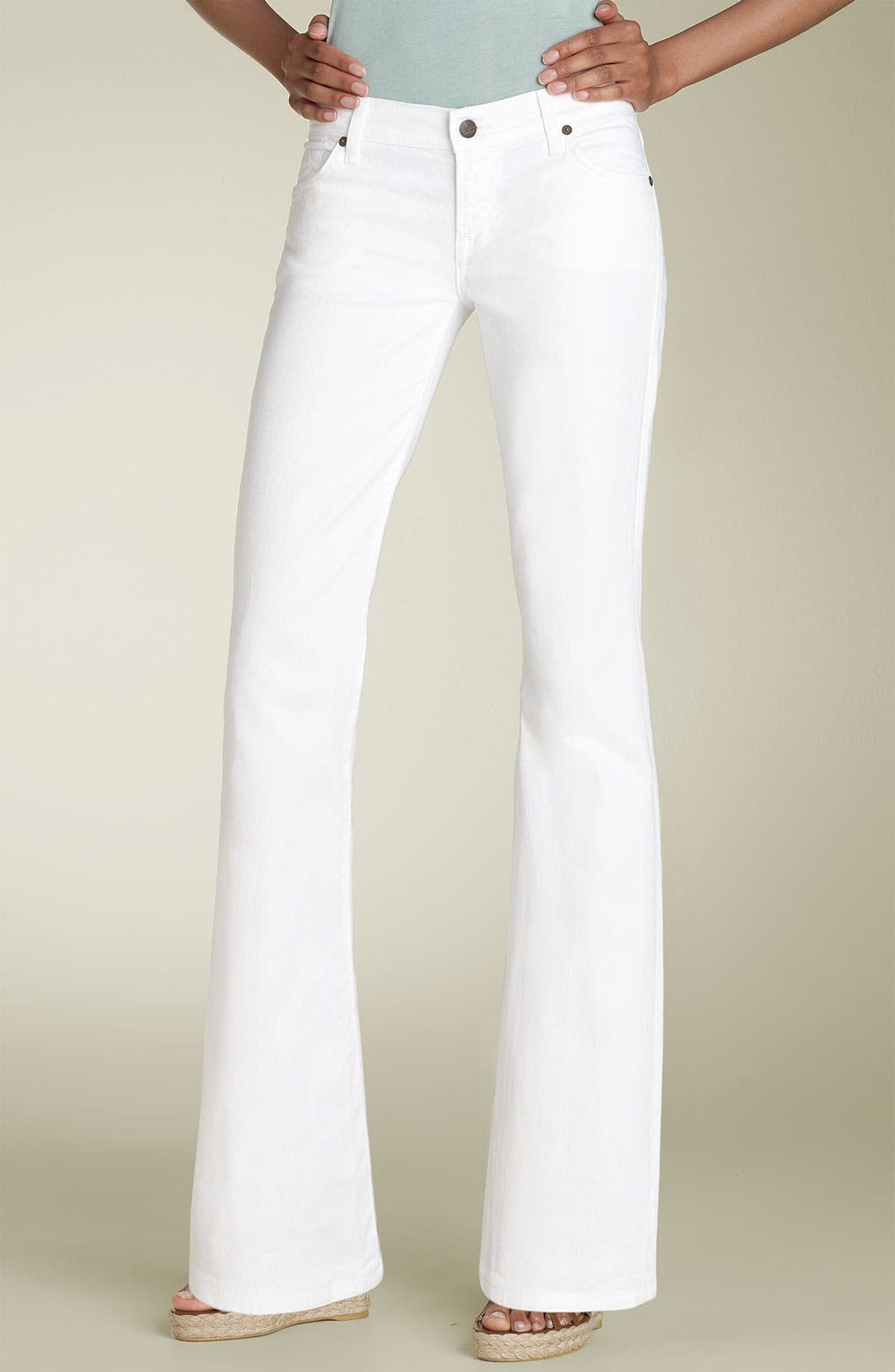 Main Image - Citizens of Humanity 'Dita' Bootcut Stretch Jeans (Santorini White) (Petite)