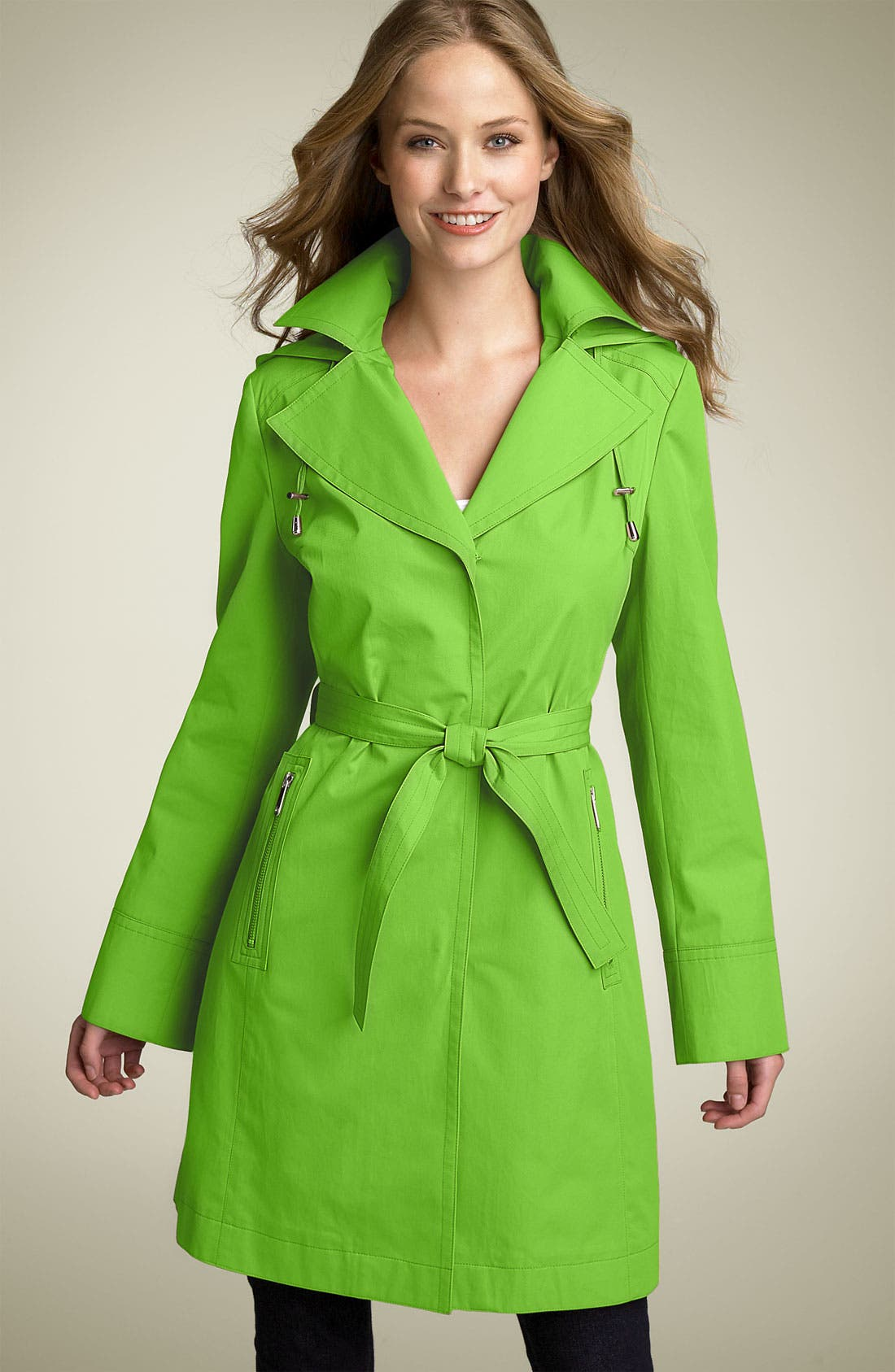Alternate Image 1 Selected - MICHAEL Michael Kors Notched Collar Trench