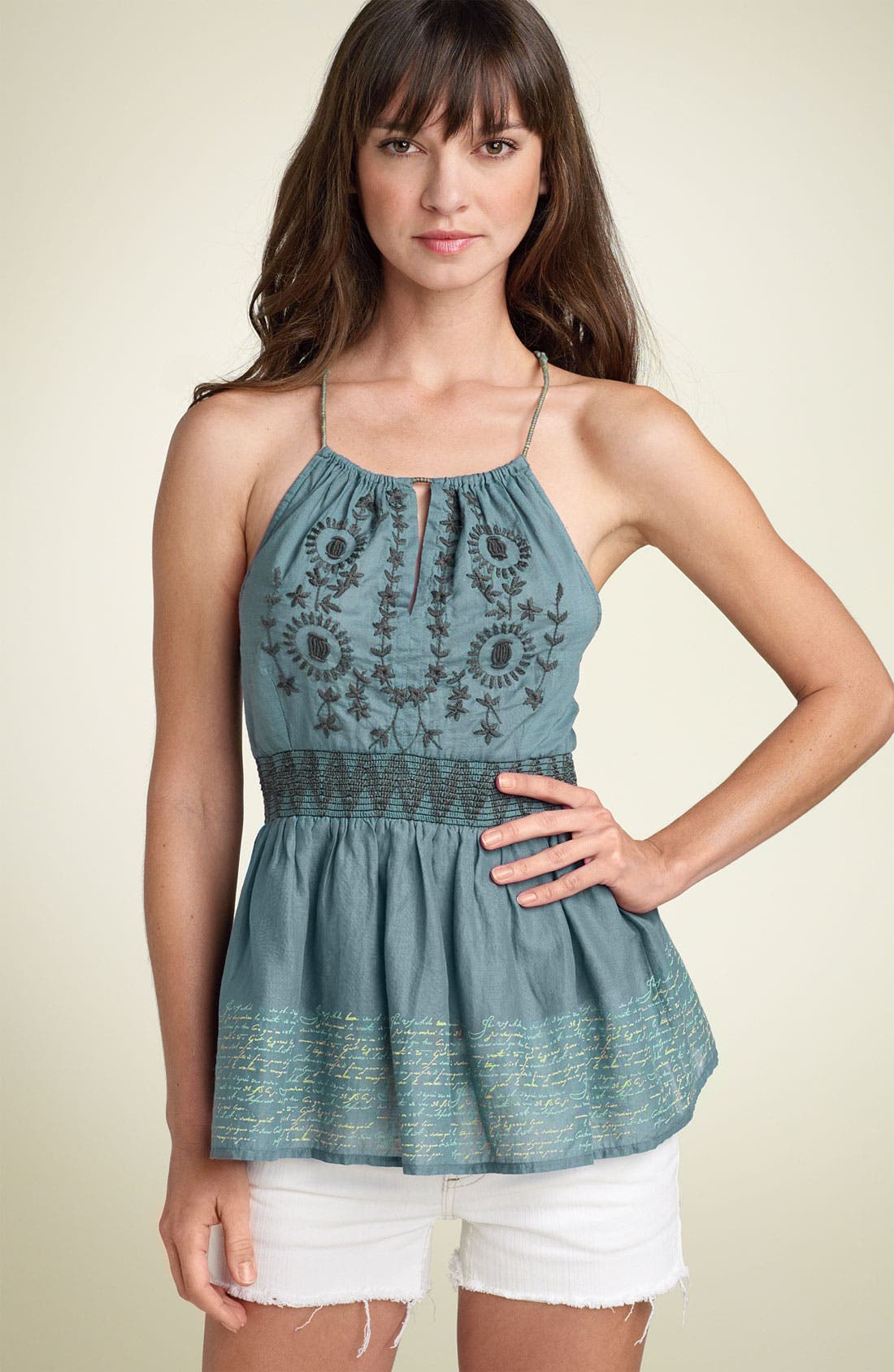 Main Image - Free People 'Love Letters' Voile Top