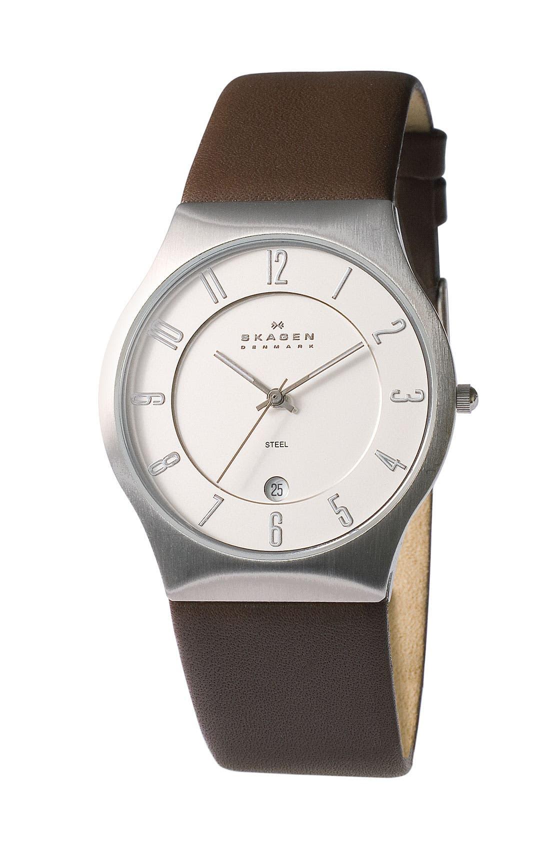 Main Image - Skagen 'Grenen' Titanium Case Watch
