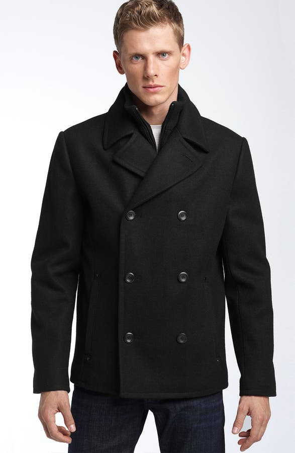 Black Rivet Short Wool Blend Peacoat | Nordstrom