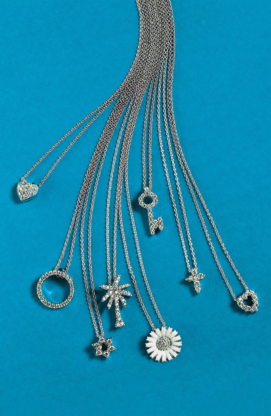 'Tiny Treasures' Palm Tree Diamond Pendant,                             Alternate thumbnail 4, color,