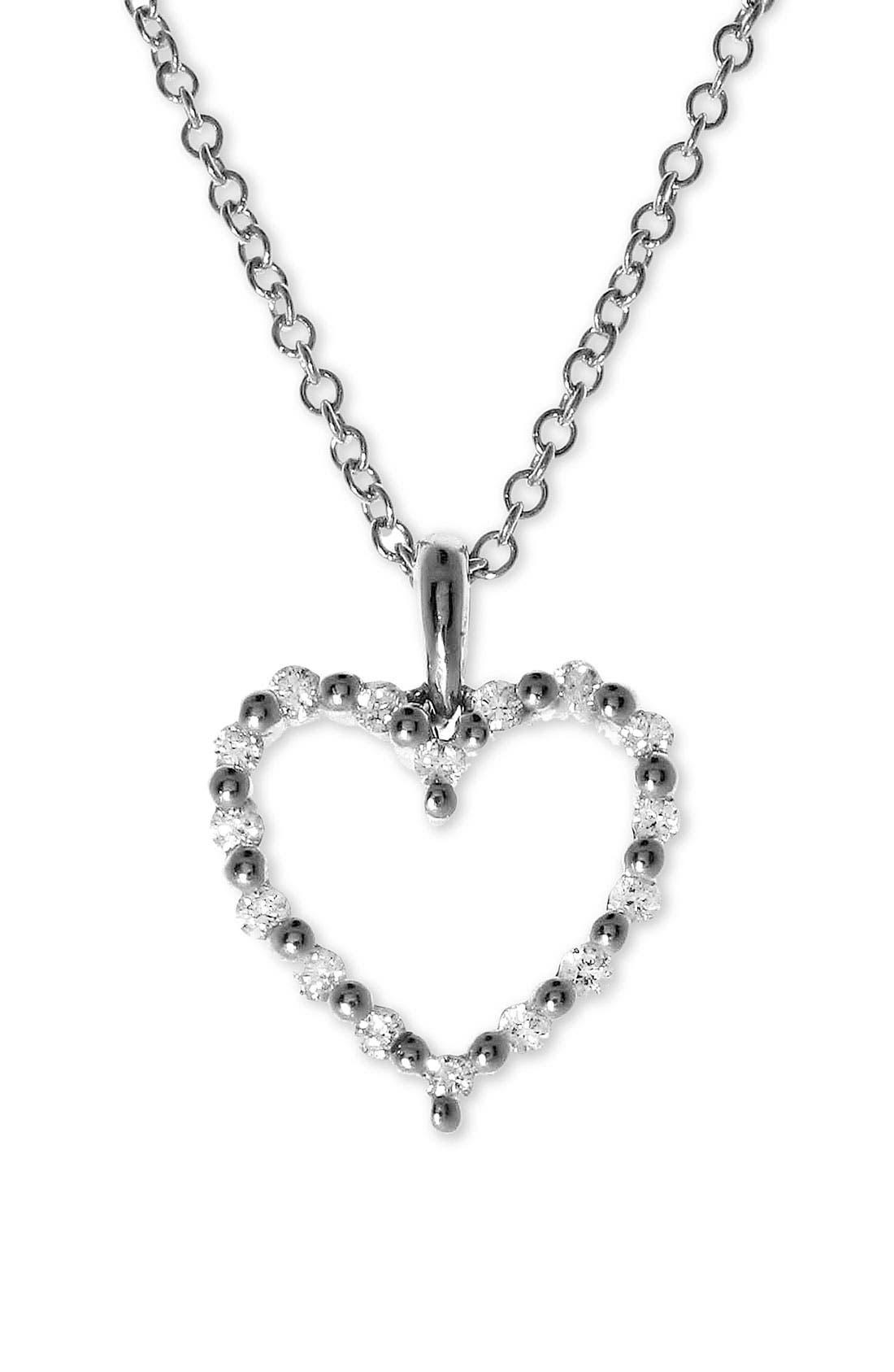 Alternate Image 2  - Bony Levy Diamond Heart Pendant Necklace (Nordstrom Exclusive)