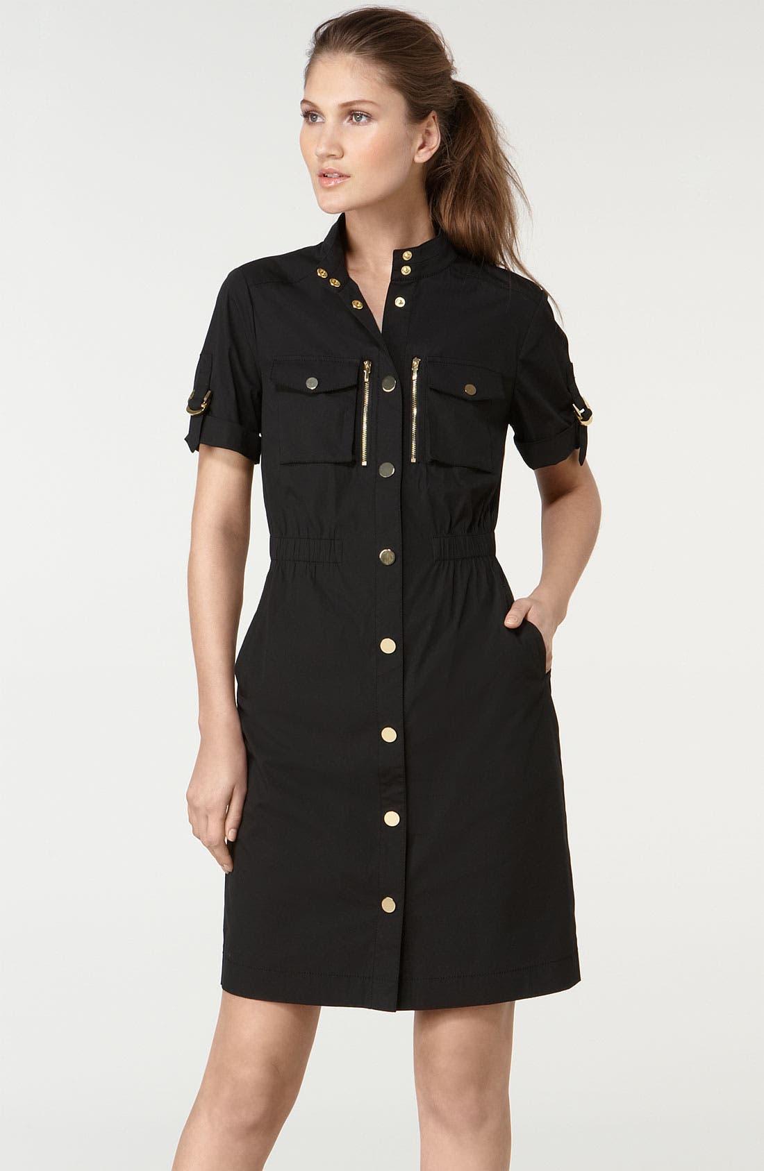Main Image - Tory Burch 'Rebecca' Stretch Sateen Dress
