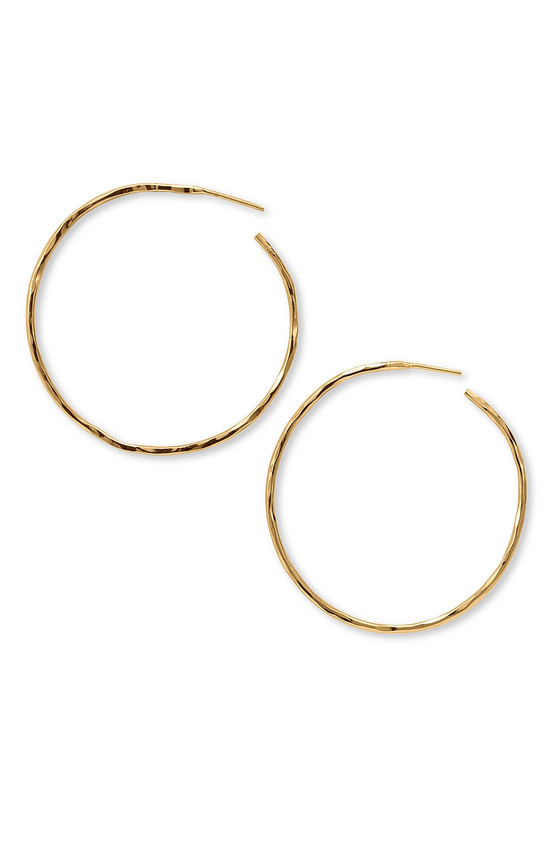 Main Image - Argento Vivo Hammered Large Hoop Earrings