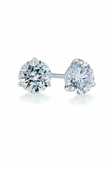 platinum earrings cut signature stud detailmain nile tw in princess diamond blue lrg main phab ct