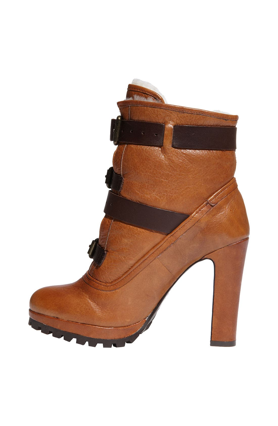 'Josh' Ankle Boot,                             Alternate thumbnail 2, color,                             Natural Leather