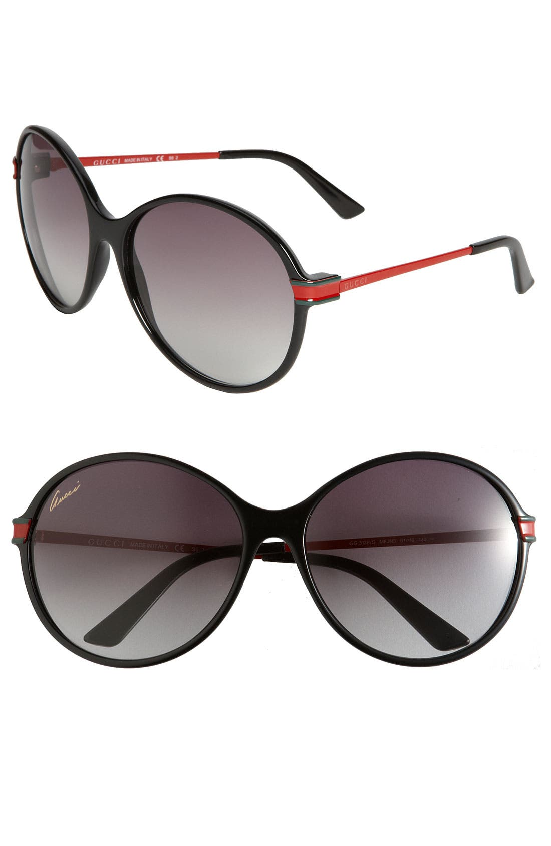 Alternate Image 1 Selected - Gucci Oversized Round Frame Sunglasses