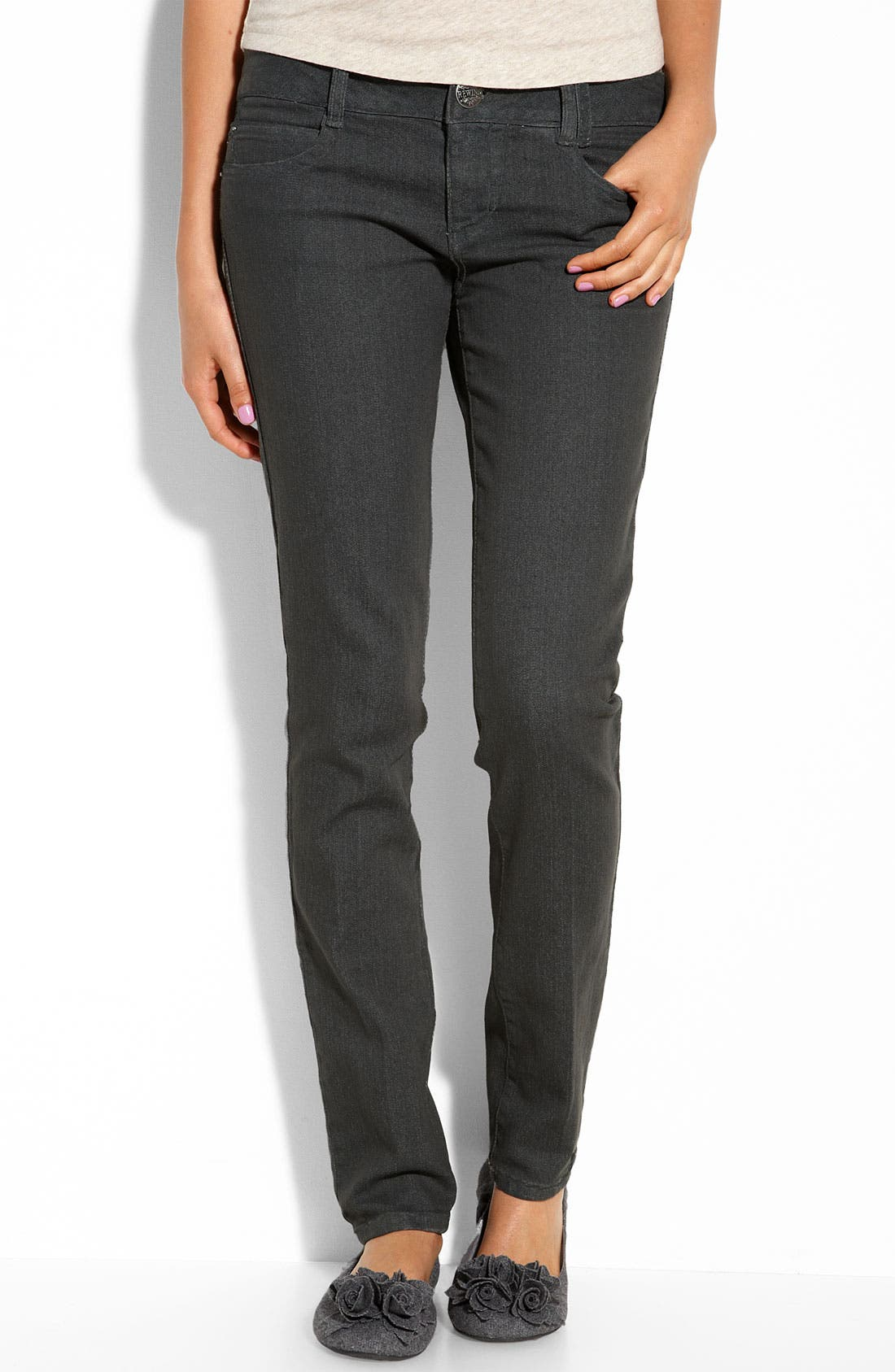 Alternate Image 2  - Jolt Skinny Jeans (Indigo Wash) (Juniors)