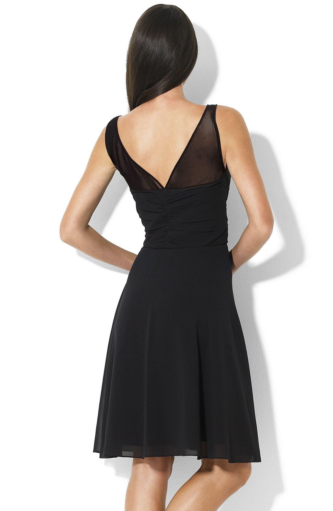Alternate Image 2  - Lauren by Ralph Lauren Chiffon Dress