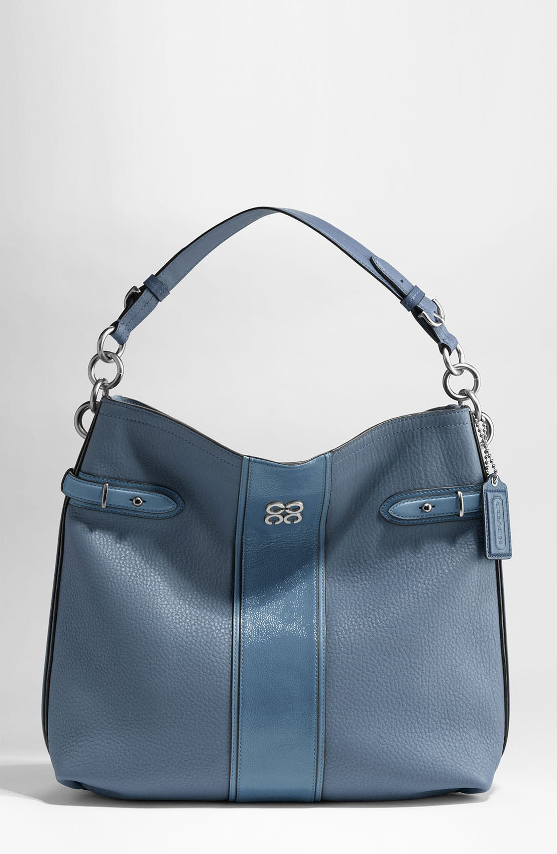 Main Image - COACH COLETTE LEATHER STRIPE HOBO