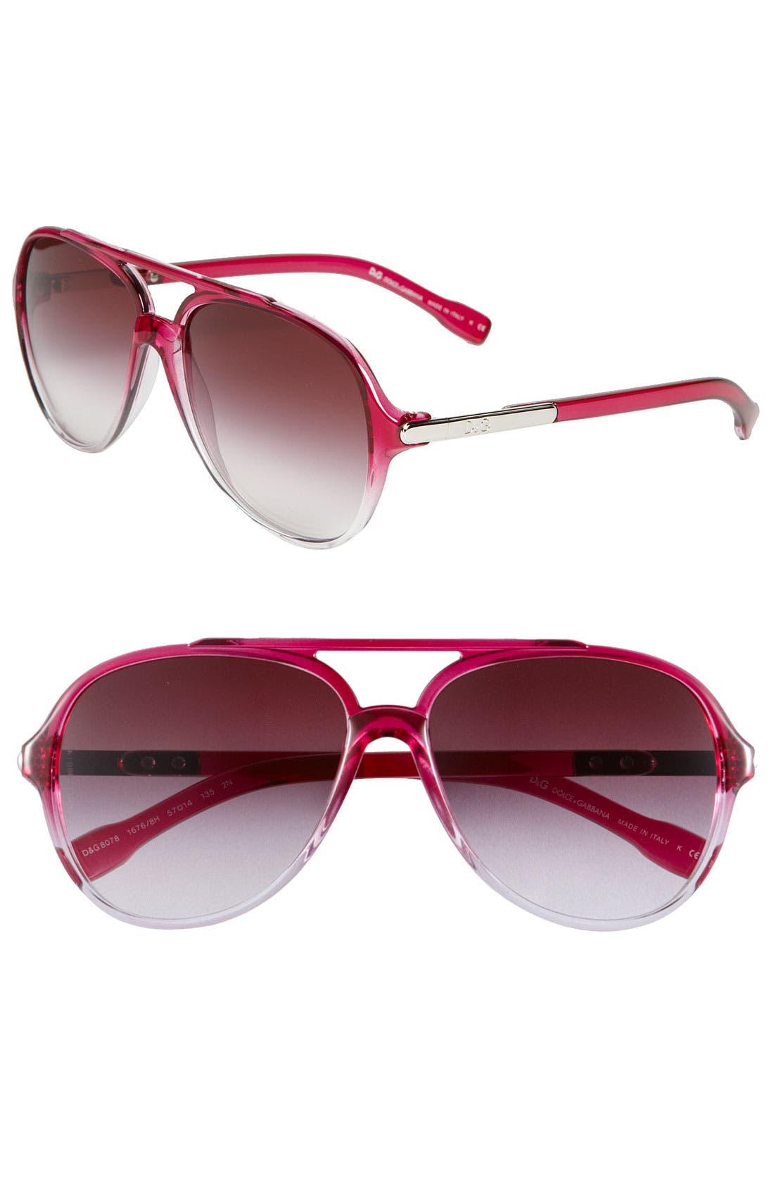Alternate Image 1 Selected - D&G 'Trend' Aviator Sunglasses
