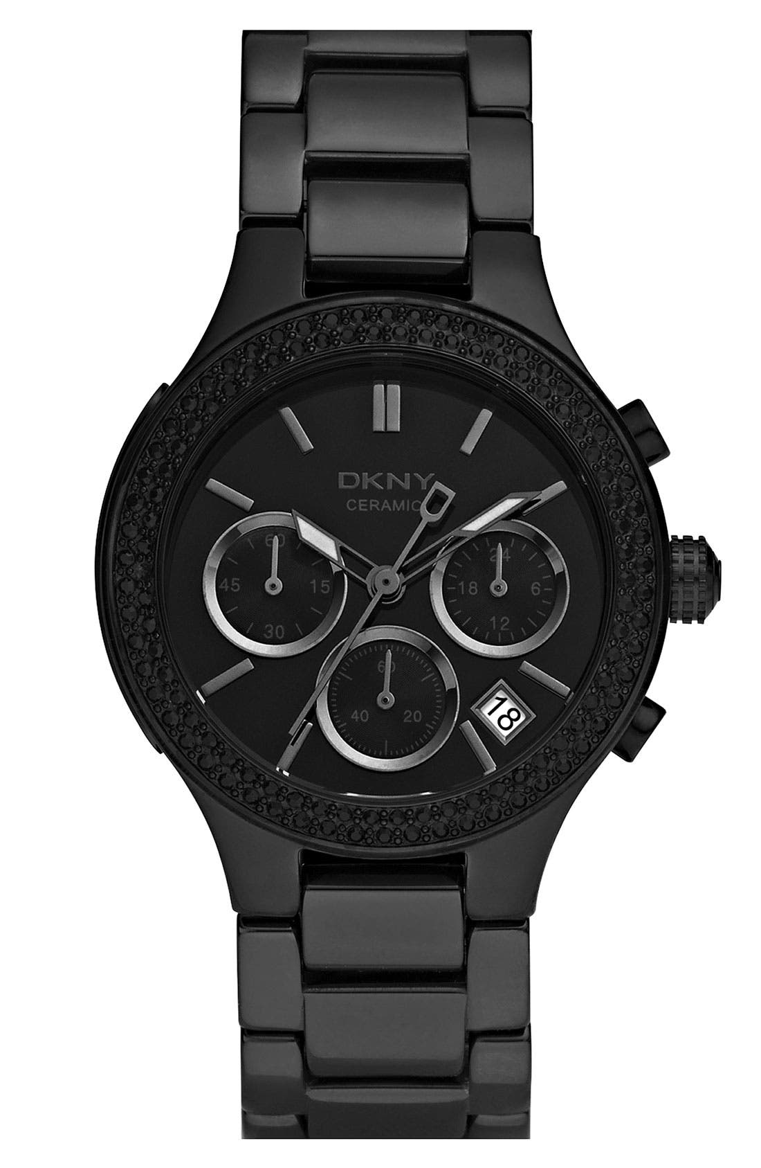 Alternate Image 1 Selected - DKNY Medium Ceramic Bracelet Watch