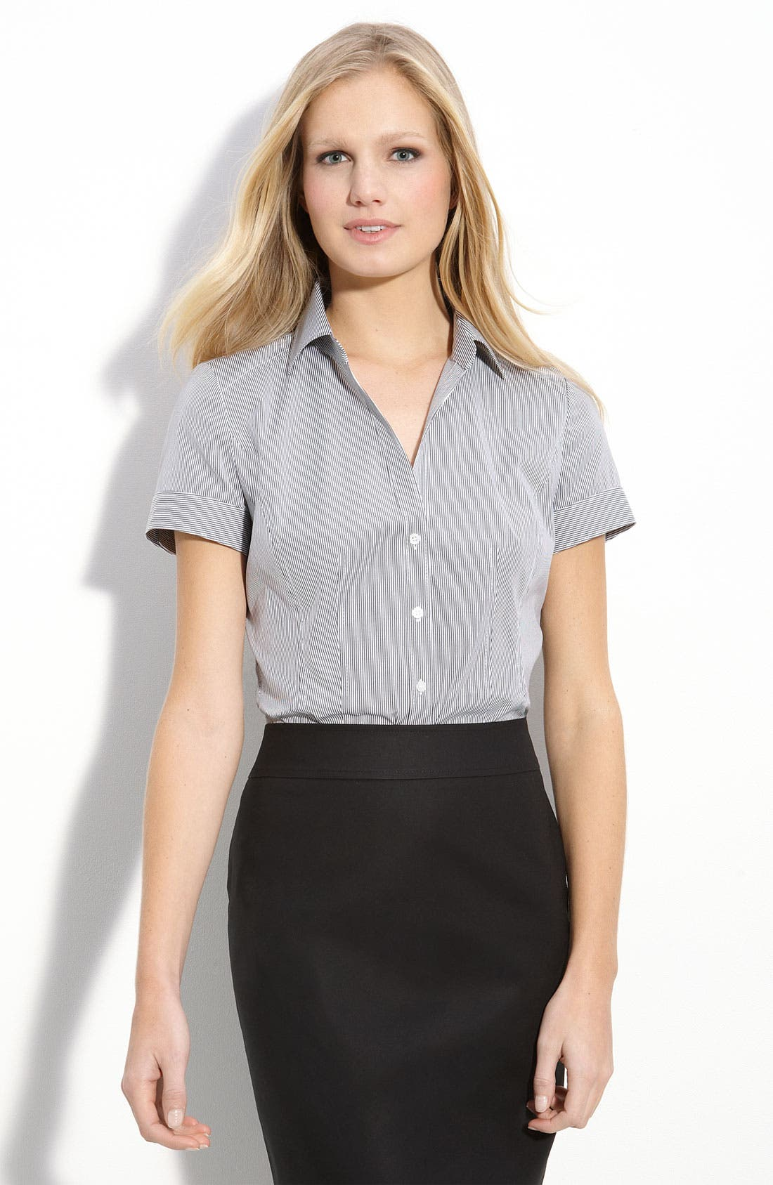 Alternate Image 1 Selected - Halogen® Seamed Shirt