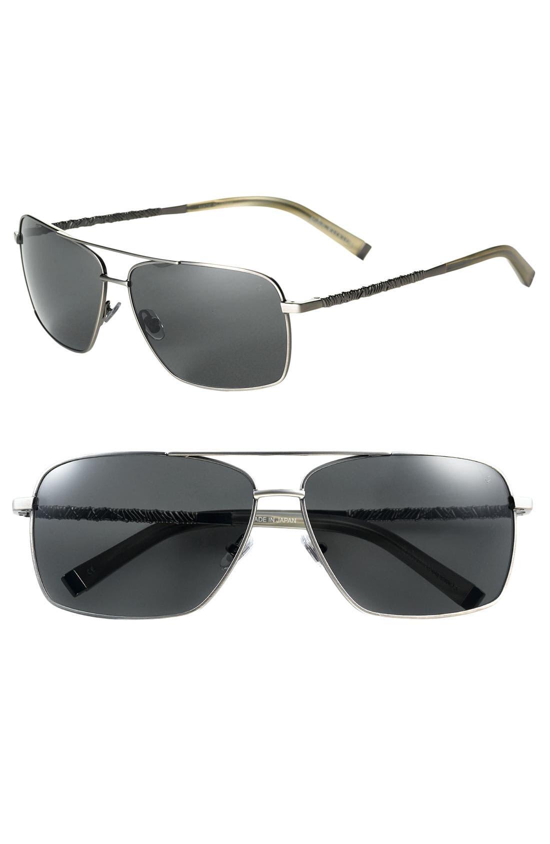 Main Image - John Varvatos Collection Wire Wrap Aviator Sunglasses