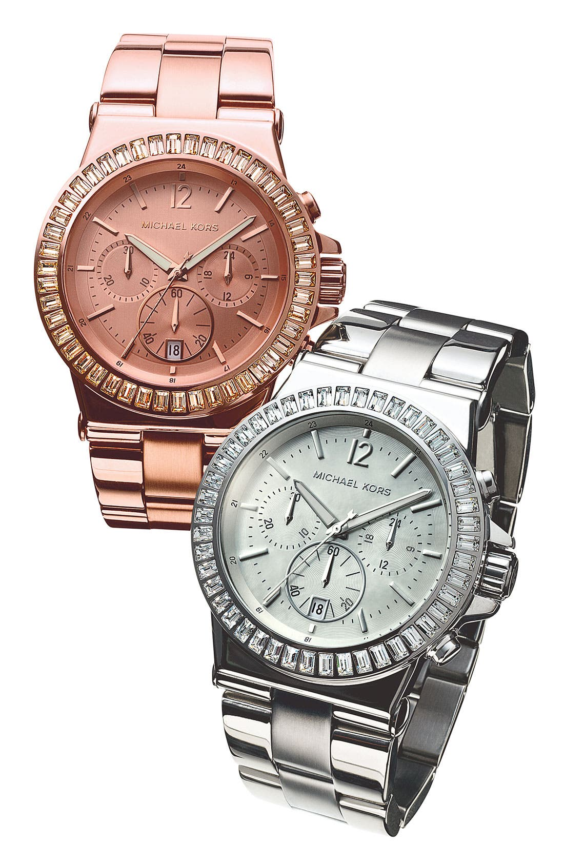Alternate Image 2  - Michael Kors 'Dylan' Crystal Bezel Chronograph Watch, 43mm