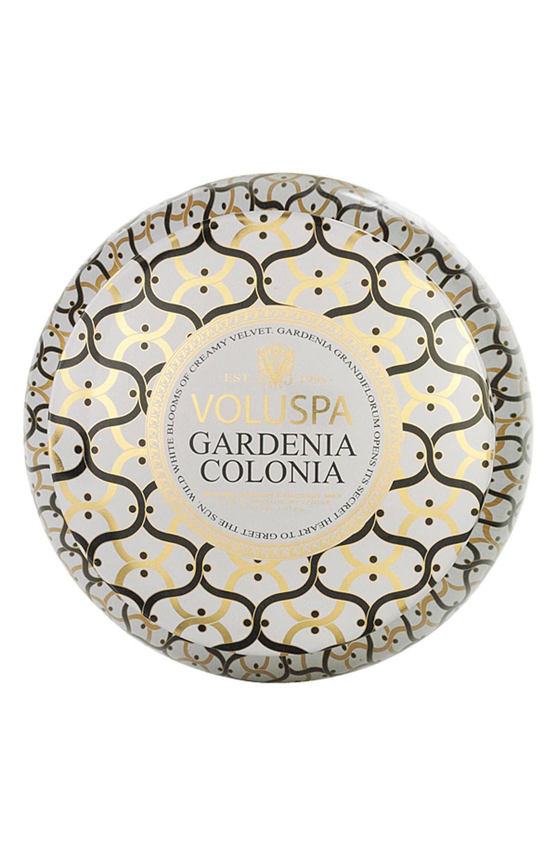 Maison Blanc Gardenia Colonia Maison Metallo Two-Wick Candle,                             Alternate thumbnail 2, color,