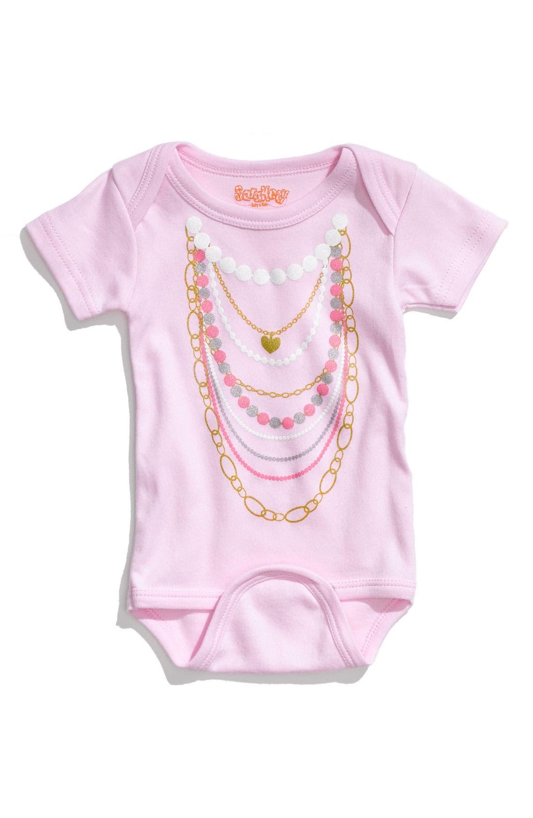 'Necklaces' Bodysuit,                         Main,                         color, Light Pink