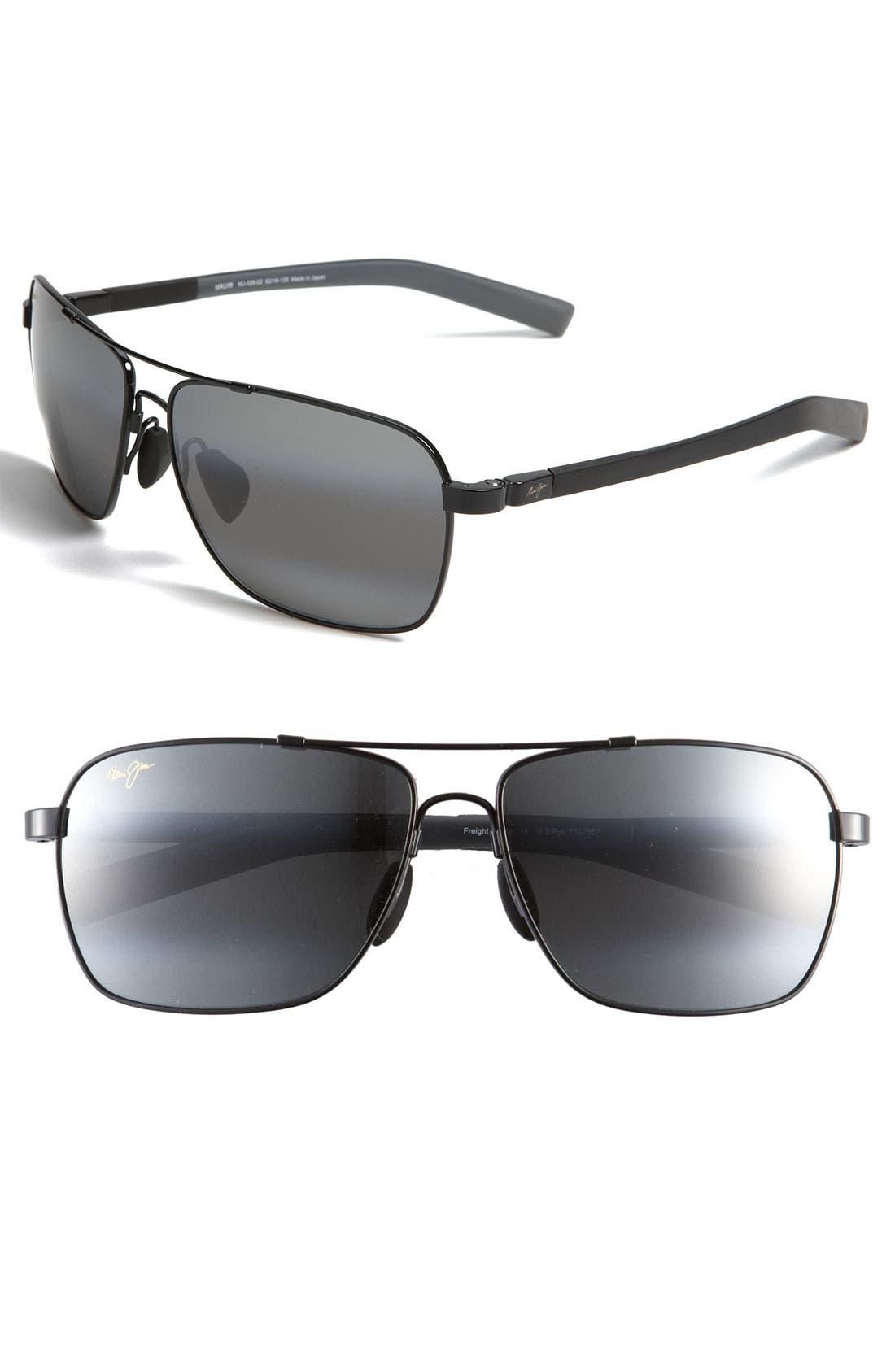 Maui Jim 'MauiFlex - Freight Trains' PolarizedPlus® 62mm Sunglasses
