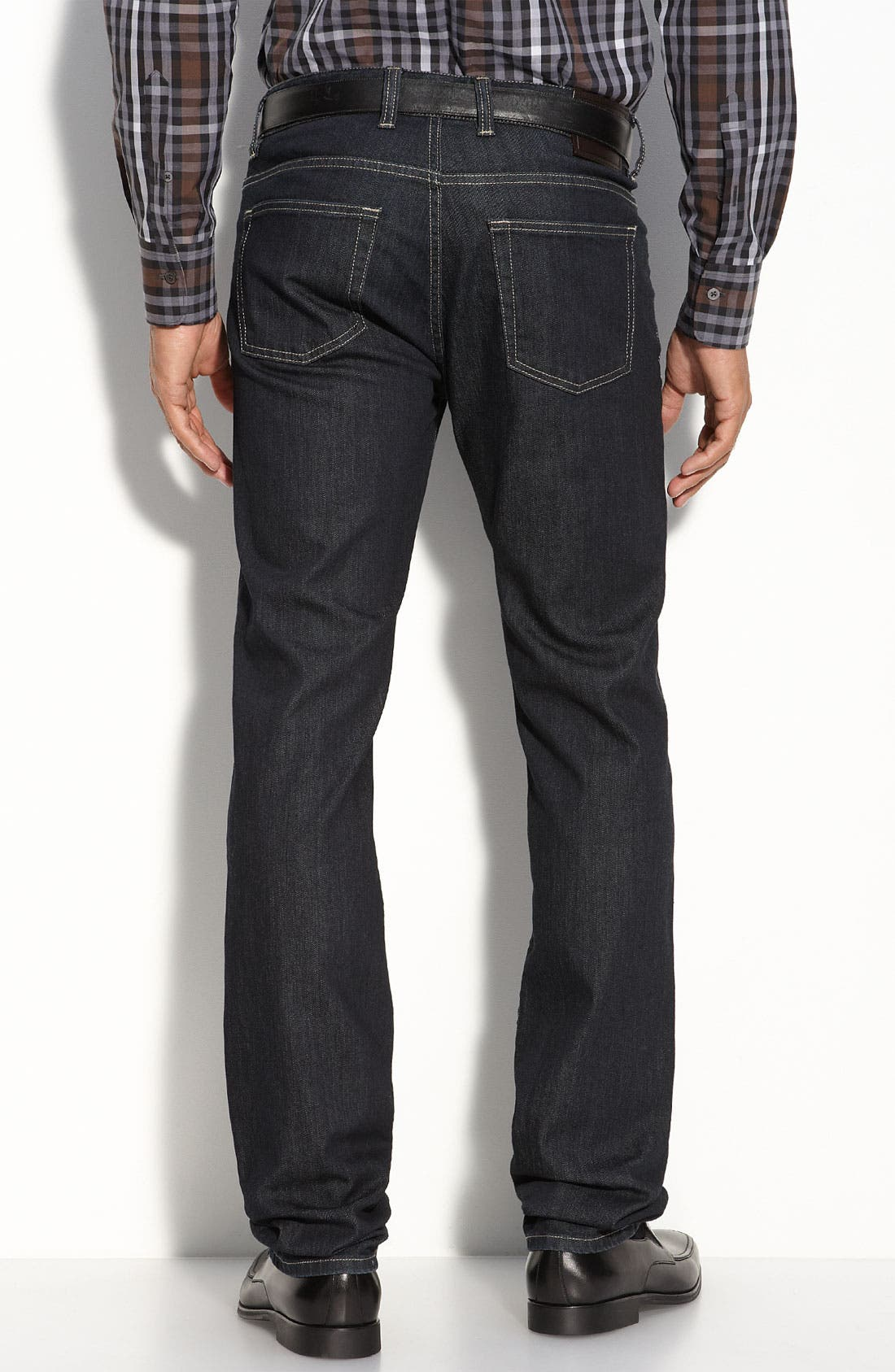 Alternate Image 2  - Canali Straight Leg Jeans (Blue)