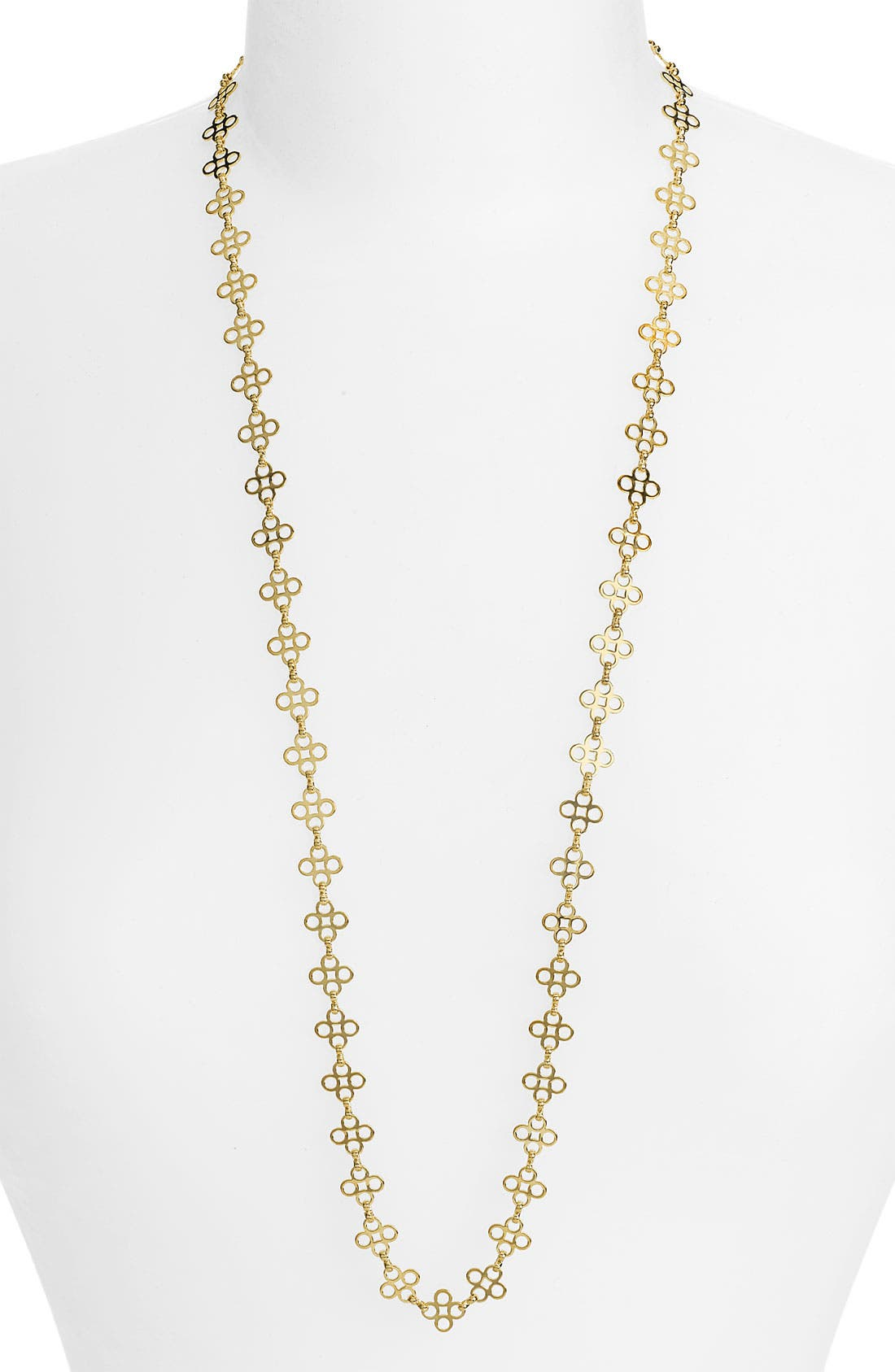 Alternate Image 1 Selected - MINI CLOVER CHAIN NECKLACE