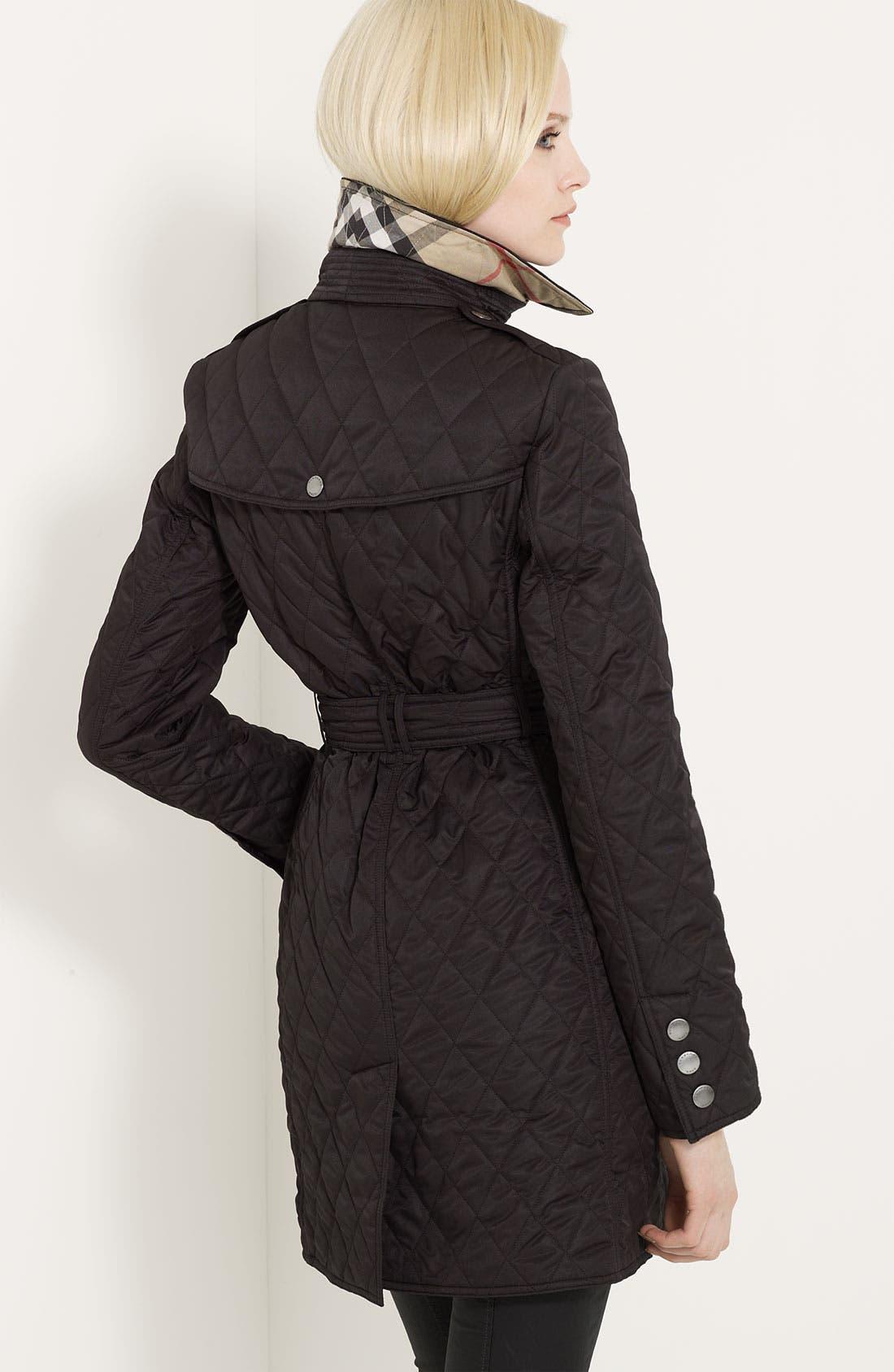 Alternate Image 2  - Burberry Brit 'Trillbridge' Quilted Coat