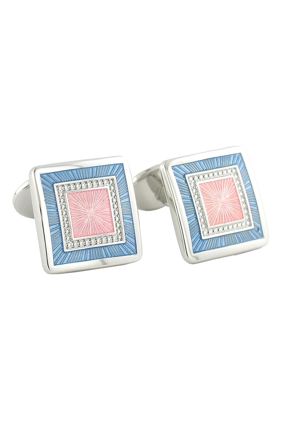 Alternate Image 1 Selected - David Donahue Square Sterling Silver Cuff Links
