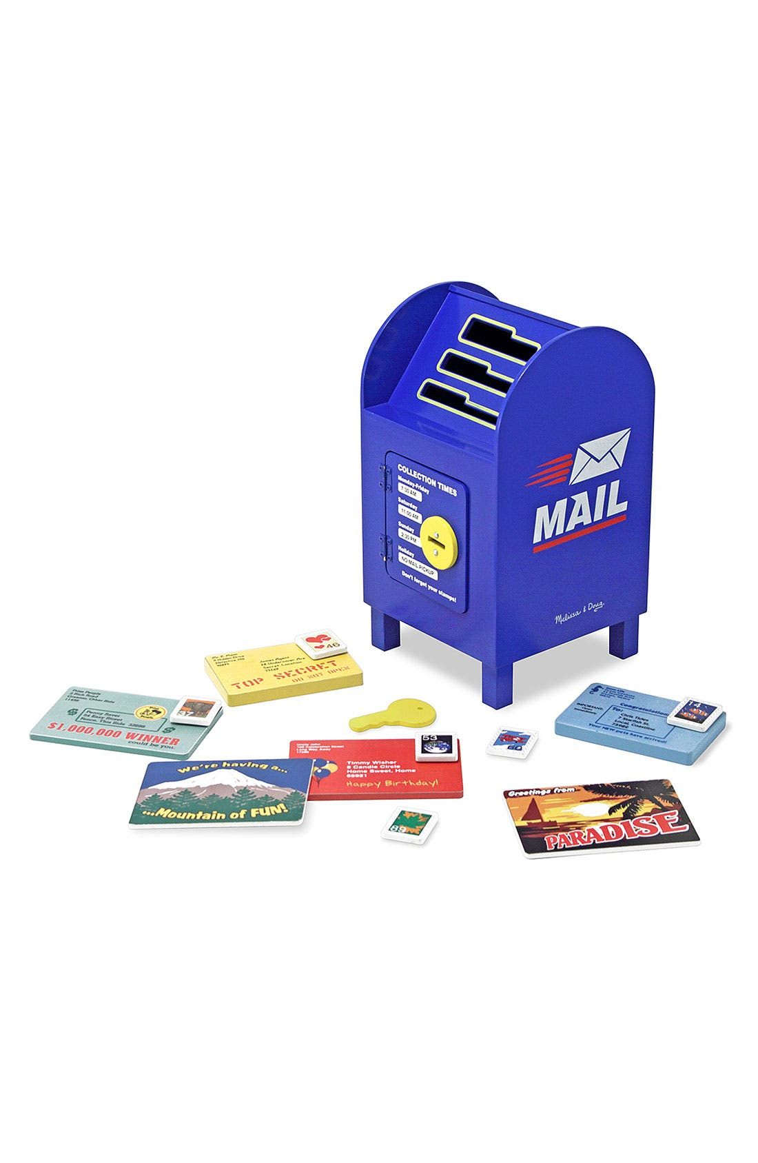 'Stamp Sort' Mailbox,                             Main thumbnail 1, color,                             Blue Multi