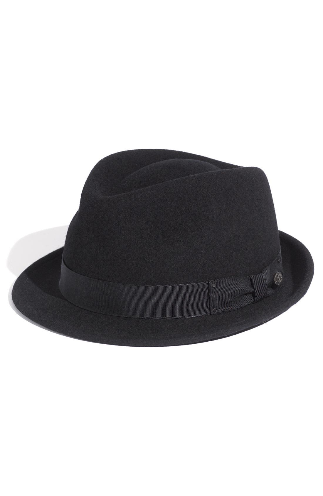 'Wynn' Packable Fedora,                             Main thumbnail 1, color,                             Black