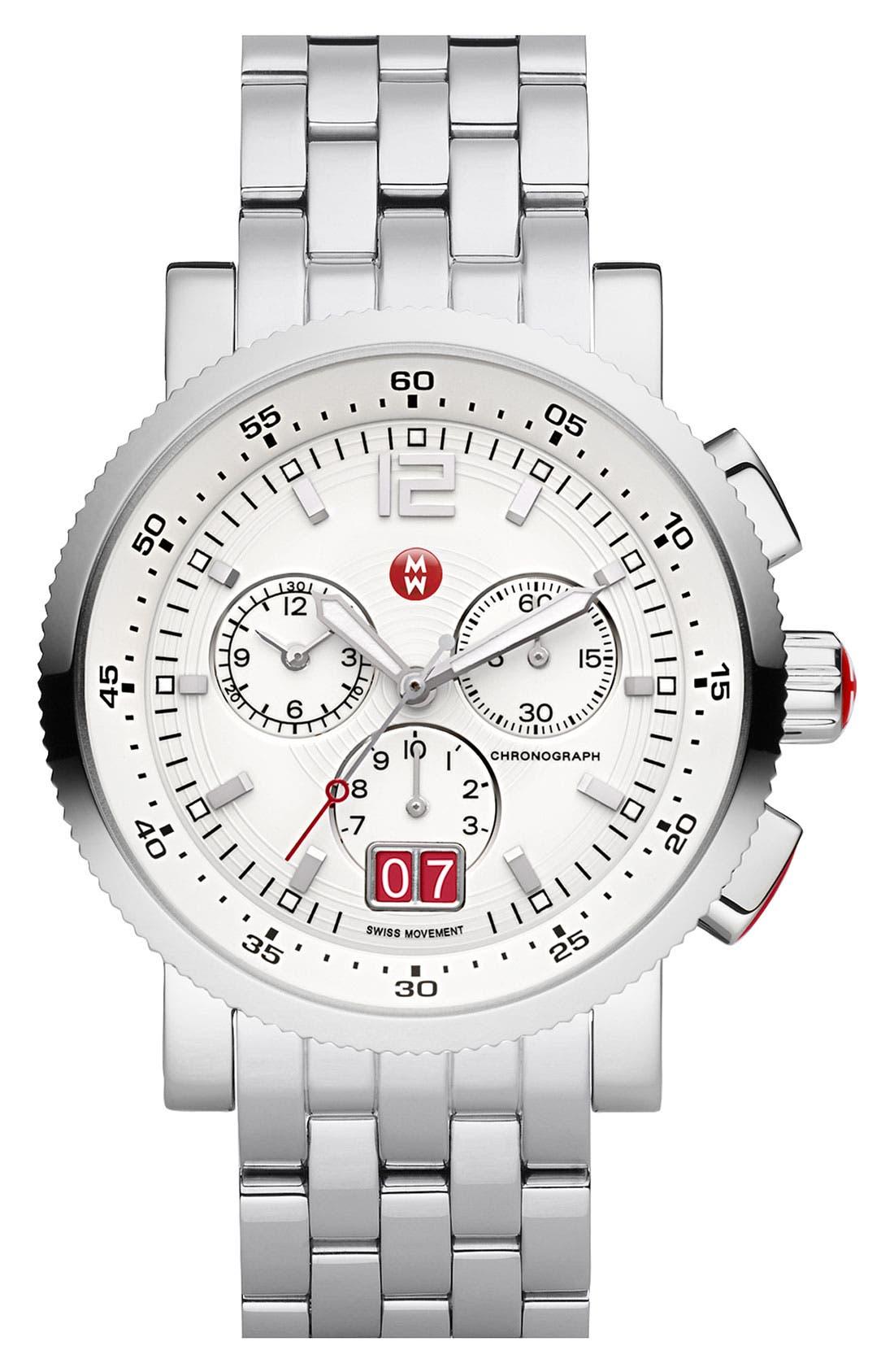 Alternate Image 2  - MICHELE 'Sport Sail - Large' Black Dial Watch Case, 42mm