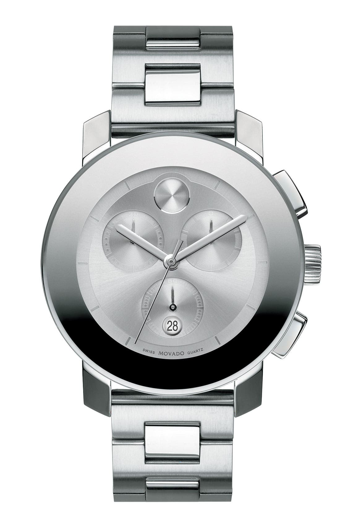 Main Image - Movado 'Bold Chronograph' Bracelet Watch, 38mm