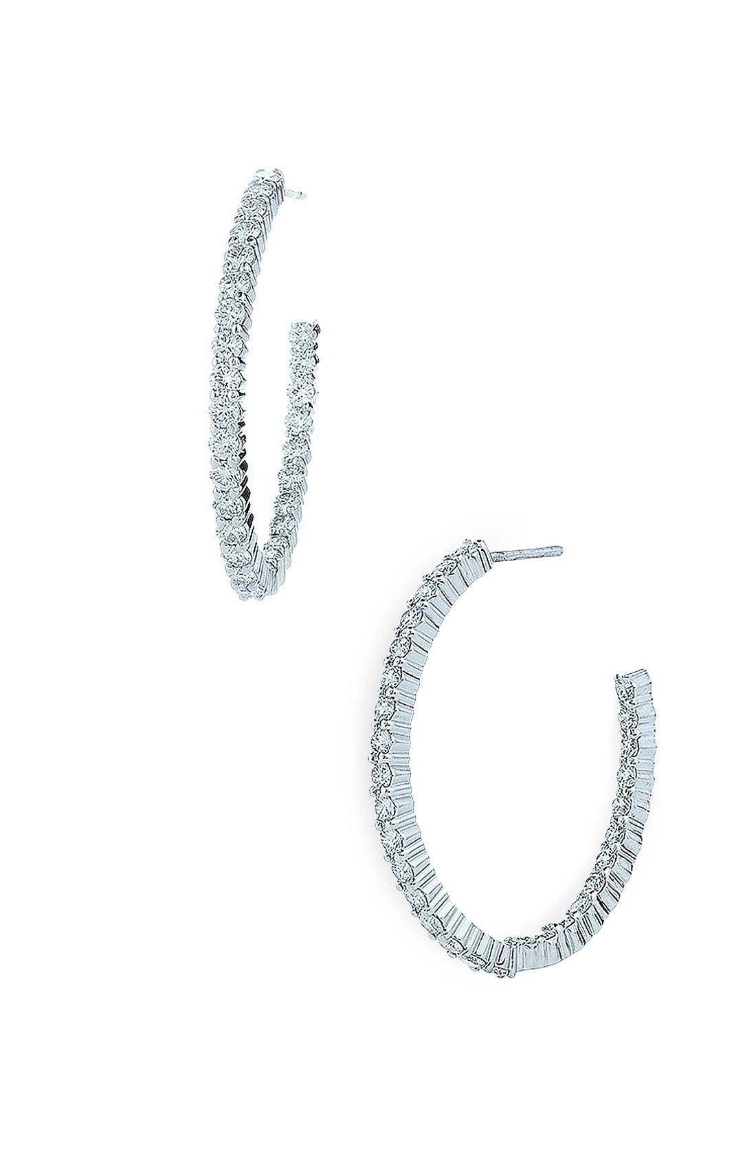 Main Image - Kwiat 'Inside Out' Diamond Hoop Earrings