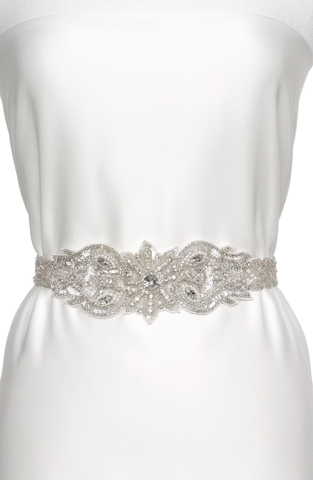 Alternate Image 1 Selected - Cara 'Vintage Crystal' Belt
